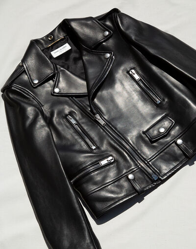 Saint Laurent's leather biker jacket is the outerwear piece to invest in
