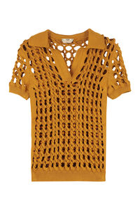 Interlock knit polo shirt, Polo shirts Fendi woman