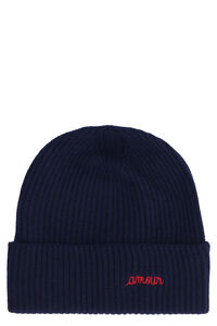Amour ribbed knit beanie, On TheCorner.com, you're in for a spooky treat… Maison Labiche woman