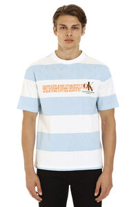 Striped cotton T-shirt, Short sleeve t-shirts CALVIN KLEIN JEANS EST. 1978 man