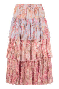 Floral print ruffled skirt, Printed skirts Zimmermann woman