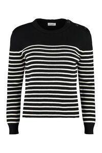 Cotton and wool blend sweater, Crew neck sweaters Saint Laurent woman