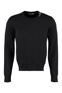 Silk and cotton pullover, Crew necks sweaters Dolce & Gabbana man