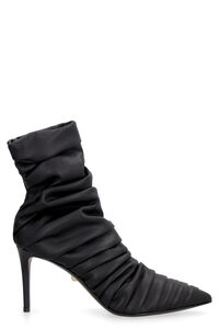 Gaia draped leather ankle boots, Ankle Boots Alevì woman