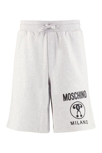 Logo print fleece shorts