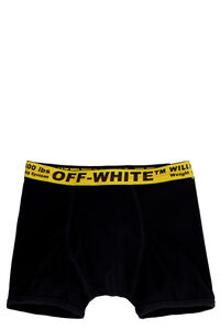 Logoed elastic band cotton trunks, Boxers Off-White man
