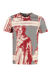 Printed stretch cotton T-shirt, Short sleeve t-shirts Salvatore Ferragamo man