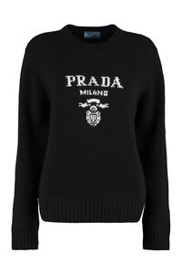 Wool and cashmere pullover, Crew neck sweaters Prada woman