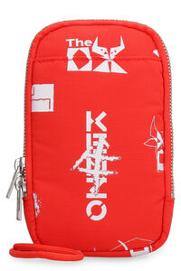 Mobile phone pouch with printed logo, Wallets Kenzo man