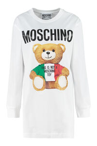 T-shirt with front print, Long sleeved Moschino woman