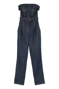 Long denim jumpsuit, Full Length jumpsuits Philosophy di Lorenzo Serafini woman