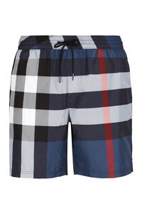 Checked swim shorts, Swimwear Burberry man