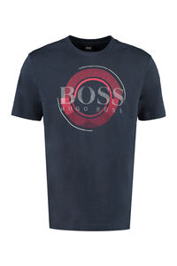 Cotton blend crew-neck T-shirt, Short sleeve t-shirts BOSS man