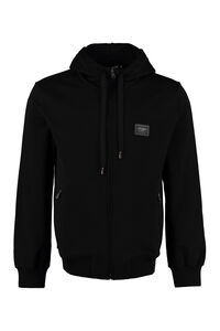 Cotton full zip hoodie, Zip through Dolce & Gabbana man