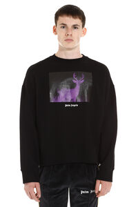 Printed cotton sweatshirt, Sweatshirts Palm Angels man