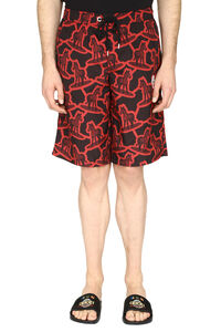 Logo print swim shorts, Swimwear 2 Moncler 1952 man