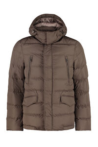 Hooded down jacket, Down jackets add man