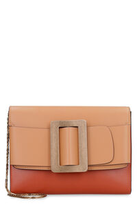 Buckle Travel Case leather clutch with strap, Clutch BOYY woman
