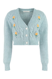 Cropped-length knitted cardigan, Cardigan Alessandra Rich woman