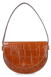 Amal crocodile print leather handbag, Clutch STAUD woman
