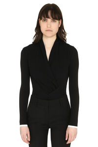 V-neck viscose sweater, V neck sweaters MSGM woman