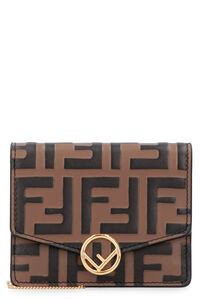 Printed leather wallet on chain, Shoulderbag Fendi woman