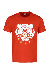 Tiger print cotton T-shirt, Short sleeve t-shirts Kenzo man