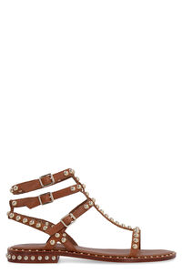 Play studded leather sandals, Flat sandals Ash woman