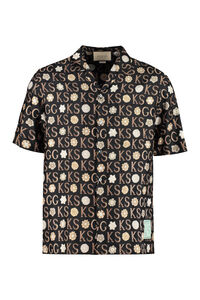 Printed silk shirt, Short sleeve Shirts Gucci man