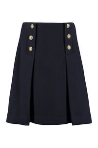 Flared skirt with decorative buttons, Knee Length skirts Parosh woman