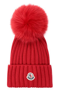 Ribbed pom-pom beanie, Hats Moncler woman