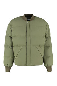 Zip and snap button fastening down jacket, Down jackets Off-White man