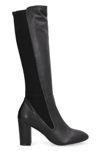 Leather and stretch fabric boots, Heeled Boots Stuart Weitzman woman