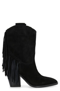 Emotion Bis fringed pointy-toe cowboy boots, Ankle Boots Ash woman