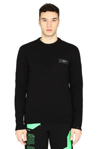 Long-sleeved crew-neck sweater, Crew necks sweaters Off-White man
