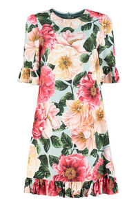 Camellia print cady dress, Printed dresses Dolce & Gabbana woman