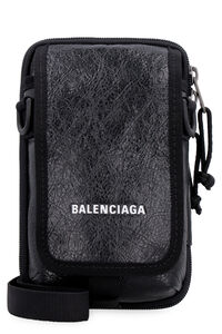 Explorer leather messenger bag, Messenger bags Balenciaga man