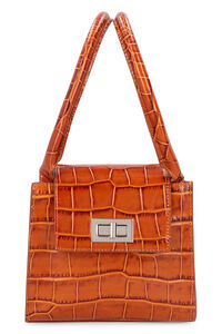 Sabrina crocodile print leather handbag, Top handle BY FAR woman