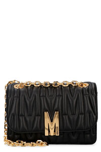 Quilted leather shoulder bag, Shoulderbag Moschino woman