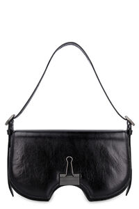 Swiss Flap leather crossbody bag, Shoulderbag Off-White woman