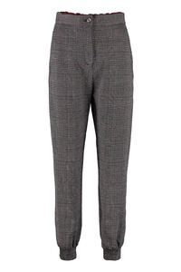 Prince of Wales checked trousers, Track Pants Pinko woman