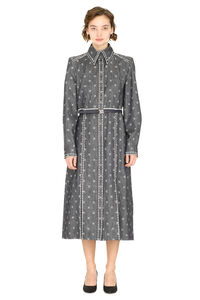 Belted denim shirtdress, Midi dresses Fendi woman