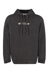 Hooded cotton-blend sweater, Hooded sweaters Off-White man
