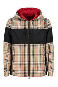 Technical fabric hooded jacket, Raincoats And Windbreaker Burberry man