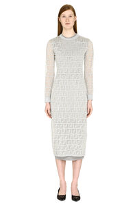 Lurex knit dress, Midi dresses Fendi woman