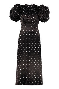 Dawn polka dot print long dress, Printed dresses ROTATE Birgerchristensen woman
