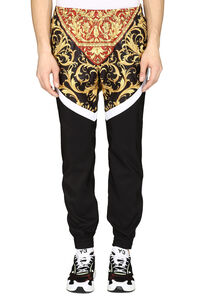 Printed techno fabric track pants, Track Pants Versace man