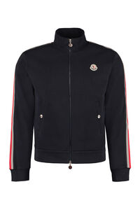 Cotton full-zip jacket, Zip through Moncler man