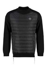 Pullover with padded front panel, Crew necks sweaters Canada Goose man
