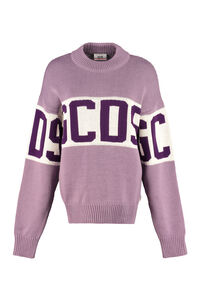 Intarsia crew-neck sweater, Crew neck sweaters GCDS woman